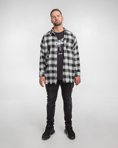 destroyed flannel shirt lfdy represent born alive streetwear shop pesoclo peso