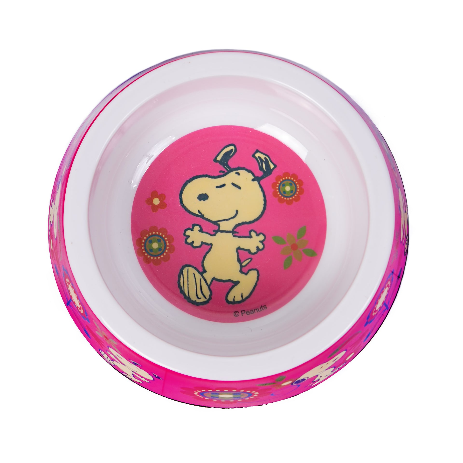 BOWL MELAMINE SNOOPY PINK FLOWER