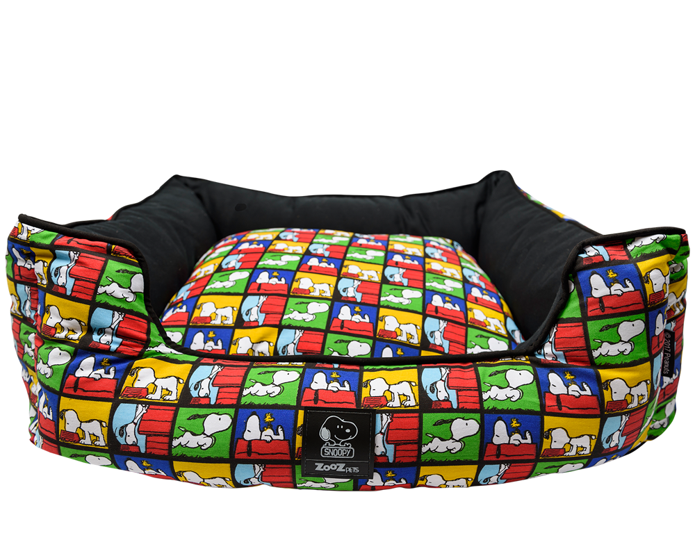 BED SNOOPY CHECKERED - Zooz Pets