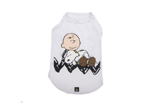 T-SHIRT WHITE SNOOPY SLEEPING - Zooz Pets