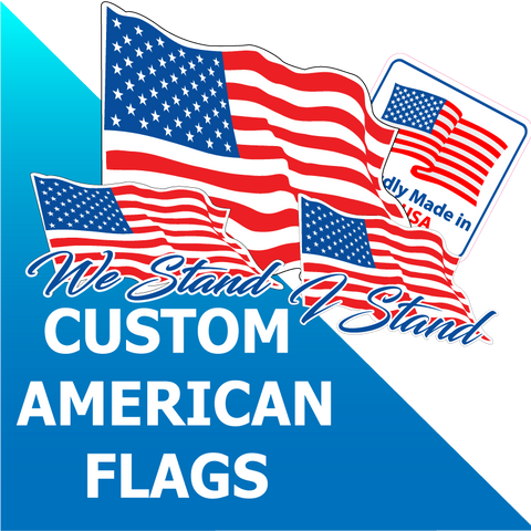 Custom American Flag Decals