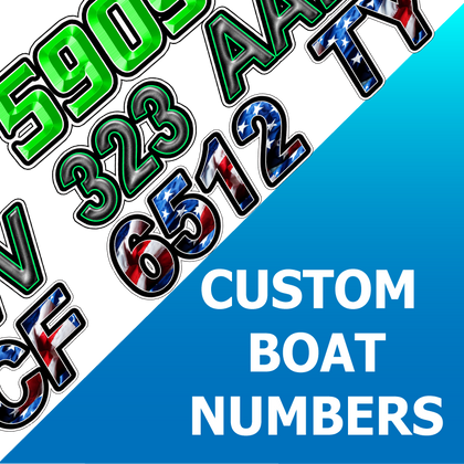 Custom Boat Numbers
