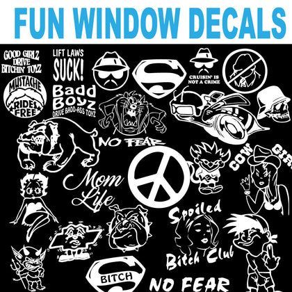 FUN WINDOW DECALS