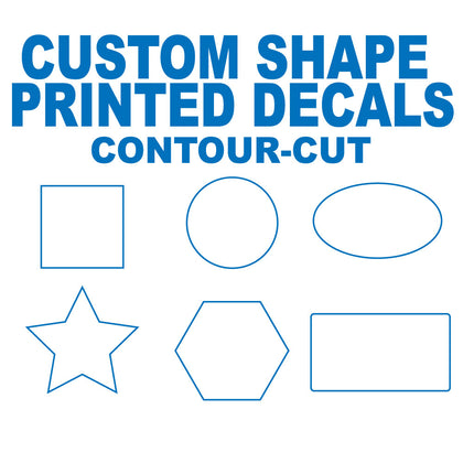 CUSTOM SHAPE PRINTED DECALS