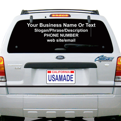 Rear Window Decals