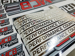 Custom Cut High Performance Decals