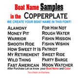 Cooperplate Custom Boat Names