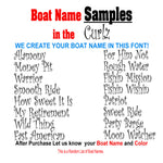 Curlz Custom Boat Names