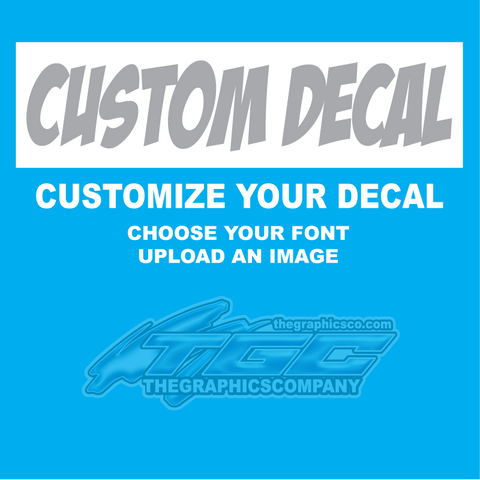 Design Your Own Decals Stickers Retangle Area