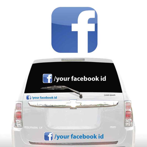 FACEBOOK SOCIAL MEDIA DECALS
