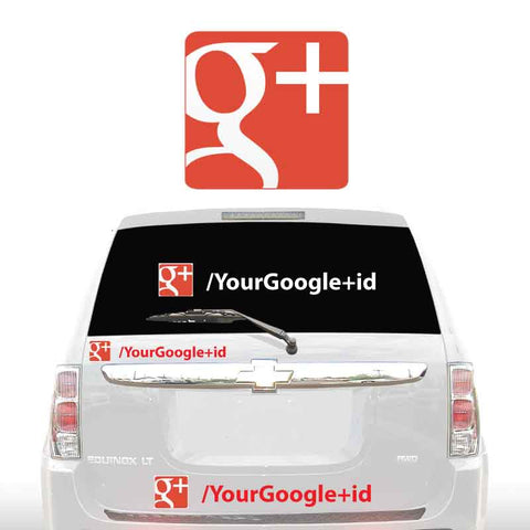 GOOGLE+ SOCIAL MEDIA DECALS