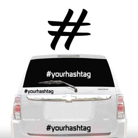 HASHTAG SOCIAL MEDIA DECALS