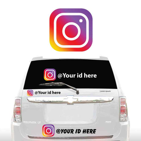 INSTAGRAM SOCIAL MEDIA DECALS