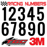 Racing Numbers Vinyl Decals Stickers Oswald 3 pack