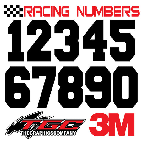 Racing Numbers Vinyl Decals Stickers FRESHMAN 3 pack