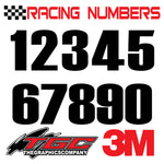 Racing Numbers Vinyl Decals Stickers Haittenchweiler 3 pack