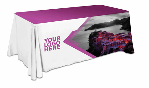 8 FT TABLE COVER – NON FITTED – FULLY PRINTED