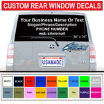 "36"" x 16"" Rear Car/Truck Window Graphics"