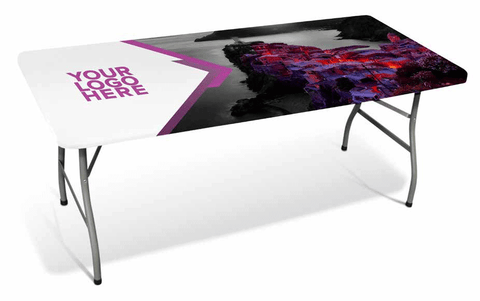4 FT TABLE TOP COVER FULL PRINT