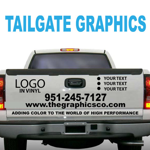 TAILGATE GRAPHICS VINYL DECALS DESIGN TWO