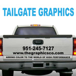 TAILGATE GRAPHICS VINYL DECALS DESIGN THREE