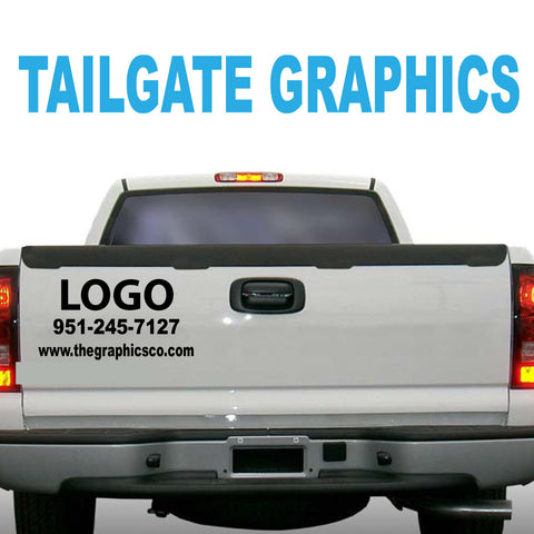 TAILGATE GRAPHICS VINYL DECALS DESIGN FIVE