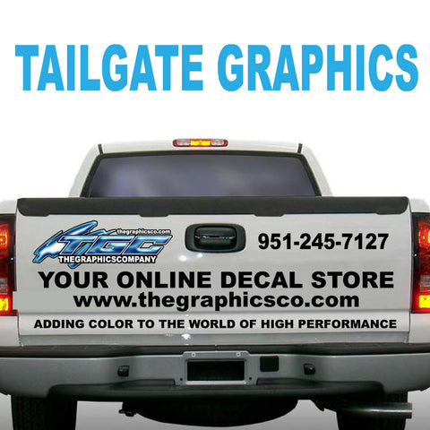 TAILGATE GRAPHICS VINYL DECALS STICKERS DESIGN ONE