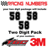 Racing Numbers Vinyl Decals Stickers Freshman Sport 3 pack