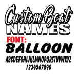 Balloon Custom Boat Names