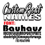 Bauhaus Custom Boat Names