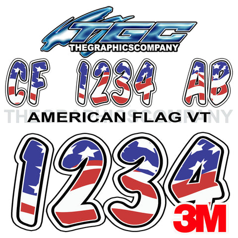 American Flag Custom Boat Registration Numbers Supermarket