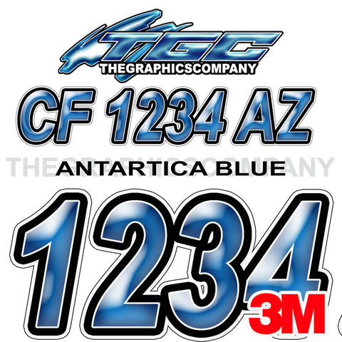 Antarctica Blue Boat Registration Numbers