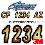 Butterscotch Boat Registration Numbers