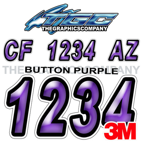 Purple Button Boat Registration Numbers