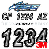 Chrome Boat Registration Numbers