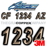 Copper Boat Registration Numbers