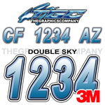 Double Sky Boat Registration Numbers