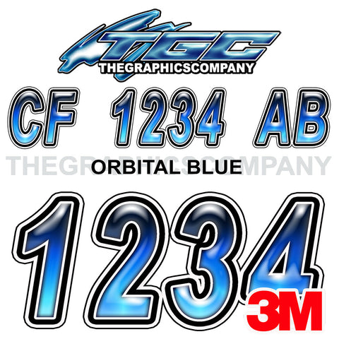Orbital Blue Boat Registration Numbers