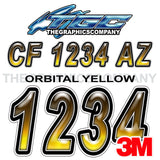 Orbital Yellow Boat Registration Numbers