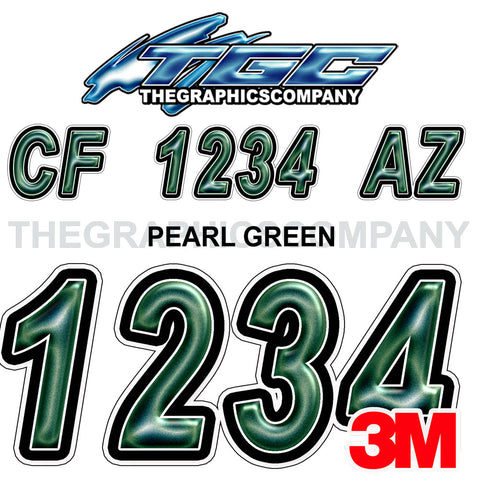 Pearl Green Boat Registration Numbers