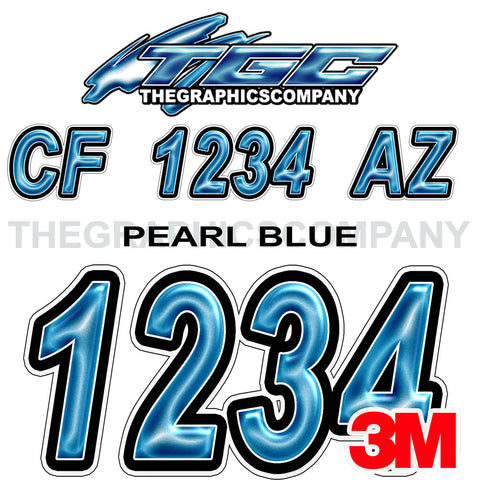 Pearl Blue Boat Registration Numbers