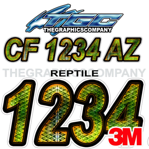 Reptile Boat Registration Numbers