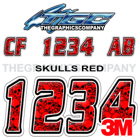 Red Skulls Boat Registration Numbers