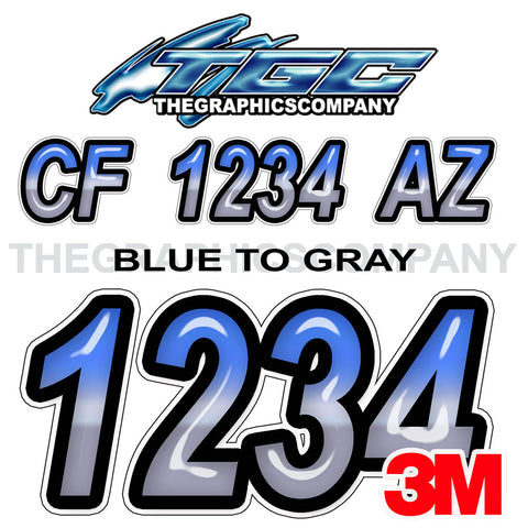 Blue to Gray Boat Registration Numbers
