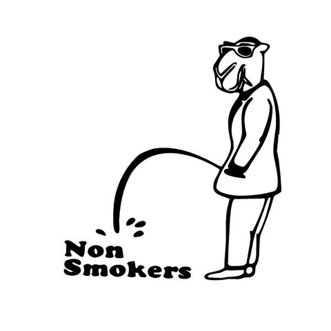 Piss On Non Smokers Decal