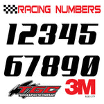 Racing Numbers Vinyl Decals Stickers Add City 3 pack