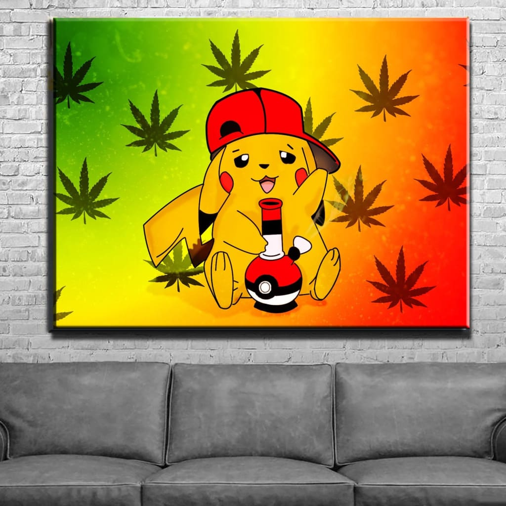 Stoned Pikachu Canvas Wall Art – Canvas Beasts