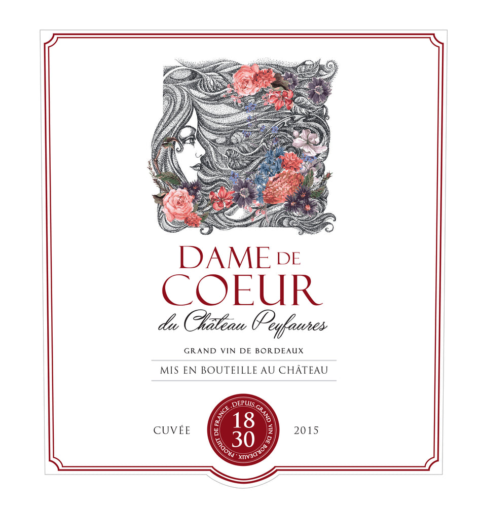 Load image into Gallery viewer, Dame de Coeur 2007 GRAND VIN DE BORDEAUX - MILLÉSIME 2007