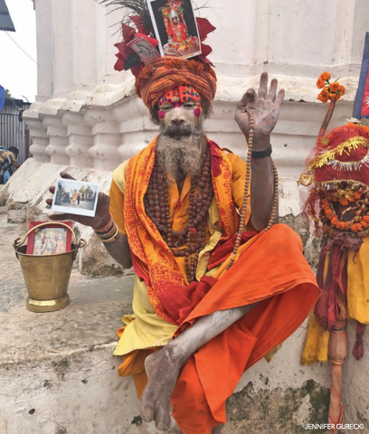 A holy man of Nepal, Sadhu, in Katmandu.