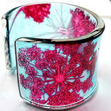 burgundy cow-parsley Cuff